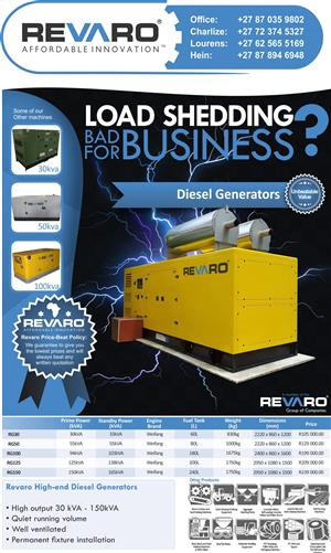 Revaro High-end Diesel Generators