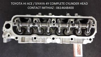 TOYOTA HI ACE/ SIYAYA 4Y CYLINDER HEADS BARE AND COMPLETE (BRAND NEW)