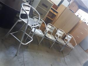 Silver chairs six (6) available