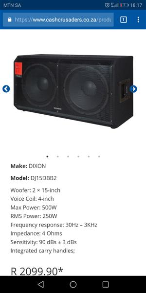 Dixon 15 inch dual bassbin