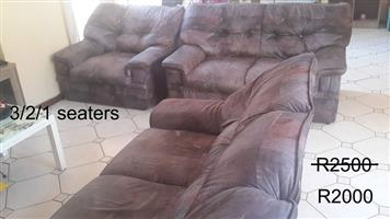 Brown lounge suite for sale