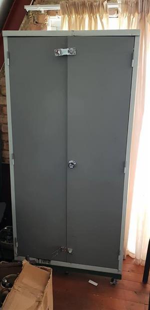 2 Door steel closet for sale