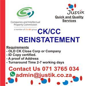 COMPANY REINSTATEMENT CK2