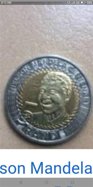Centenary R5 Mandela coin