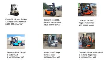 Toyota 3 ton, 3 stage 6 meter mast, 7 series second hand/ used forklift trucks for sale| South Africa