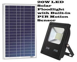 Solar LED Floodlights with Built-In PIR Motion Sensor 20W. Brand New Products.