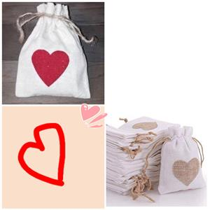 Cotton gift bags- valentines