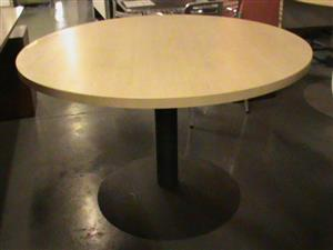Maple round boardroom table