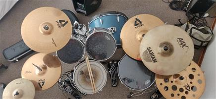 Tama Imperial Star Drum Kit with Paiste Alpha Rock Cymbals+extra hardware