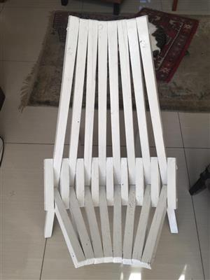 Unique Folding Wooden deck chair