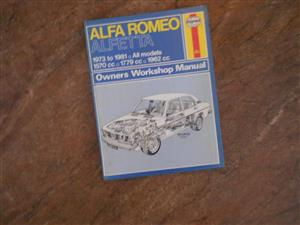 Alfa Romeo Alfetta workshop manual