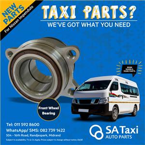 New Front Wheel Bearing suitable for Nissan Impendulo - SA Taxi Auto Parts quality spares