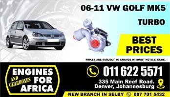 New VW GolF5 Gti KKK Turbocharger FOR SALE