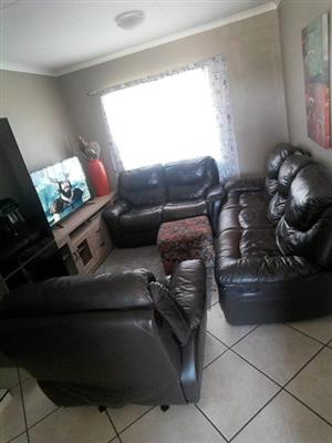 genuine leather upper recliners