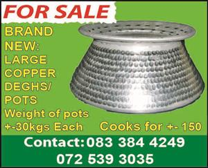 Brand New Copper Pots For Sale
