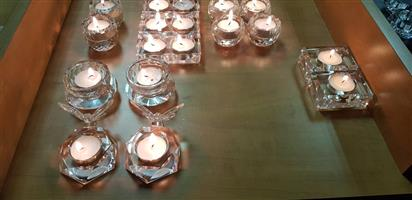 Crystal Tea Candle Holders