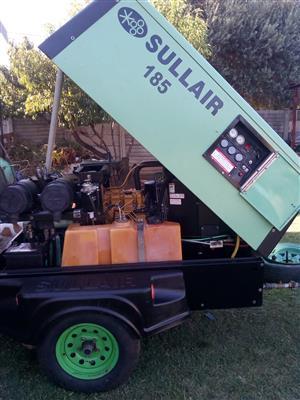 Sullair 185 mobile compressor