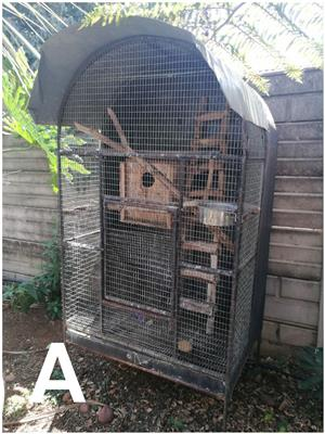 2× bird cages available for sale.