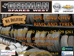 OPEL AND CHEVROLET RIMS & TYRES FOR SALE