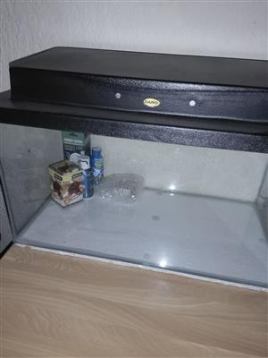 Brand new fish tank suitable for reptile set up with aeessories , lights and calcium drops and temperature thermometer