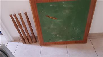 Wooden green drawing table for sale