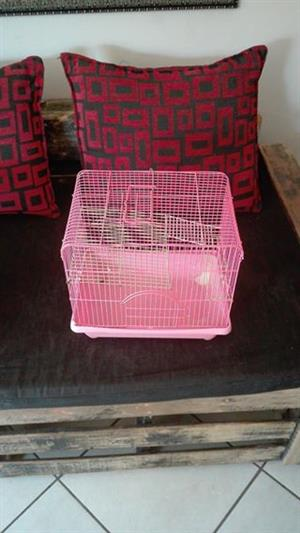 Pink hamster cage for sale