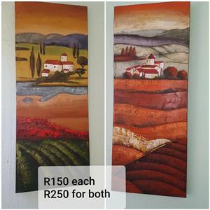 2 Canvas paintings for sale