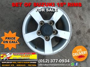 "Set of Suzuki 15"" Rims FOR SALE! 🤩"