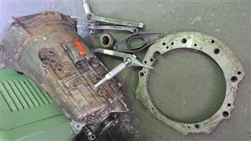 Bmw zf gearbox 5 speed & 2J ADAPTER.