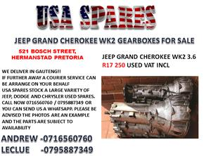 JEEP GRAND CHEROKEE WK2 3.6 GEARBOX FOR SALE