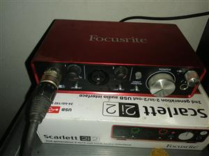 Scarlet 2i2 second generation audio interface