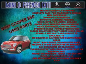 USED CAR PARTS AND ACCESSORIES FOR MINI R5O & R52