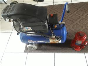 20 Ton jack and 24L air compressor