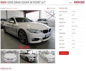 2016 BMW 4 Series 420d Gran Coupe M Sport sports auto