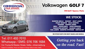 VW Golf 7 Parts and Spares For Sale.