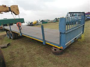 Afrit d/axle Flatdeck trailer