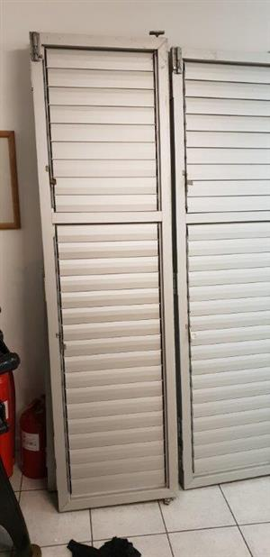 Shutter Doors Aluminium Stack doors, Fold away Silver Used Good condition