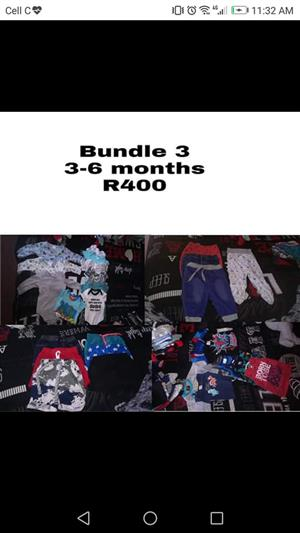 Baby boy 3-6months clothes.