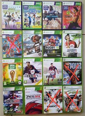 Xbox 360 games plus accessories