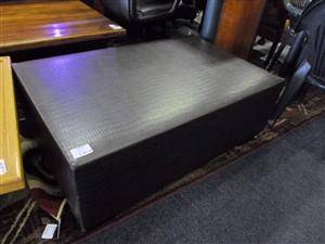Leather Like Large Ottoman