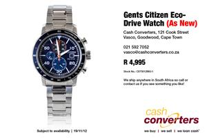 Gents Citizen Eco-Drive Watch (As New)