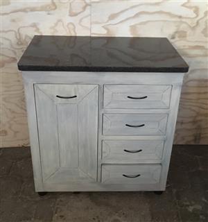 Kitchen Cupboard Base unit Farmhouse series 900 Grey washed