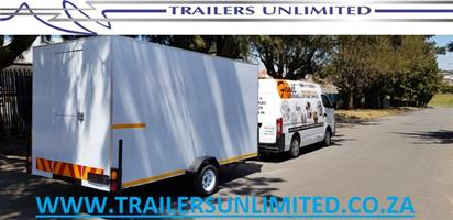 4000 X 1800 X 2000 ENCLOSED CATERING TRAILER. SINGLE AXLE.