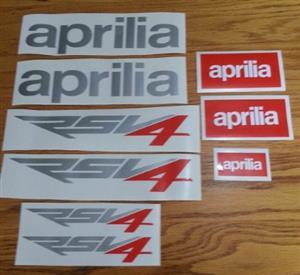 Aprilia RSV4 vinyl cut stickers decals graphics kits