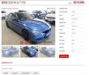 2013 BMW 3 Series 320i M Sport sports auto