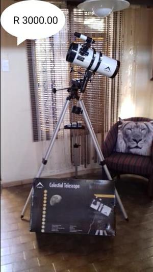 Celestial telescope on tripod