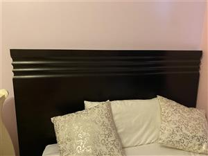 Black bed head board