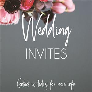 Wedding invites by Kaalvoet Designs