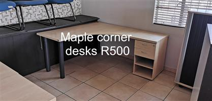Maple corner desks for sale