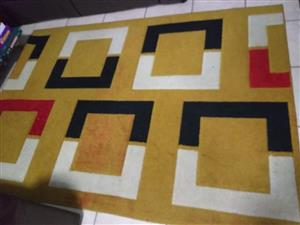 Yellow block carpet for sale